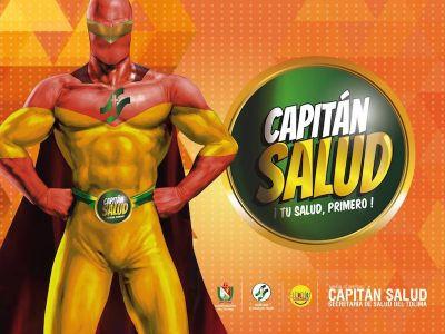 Capitán Salud, el héroe de los juegos nacionales